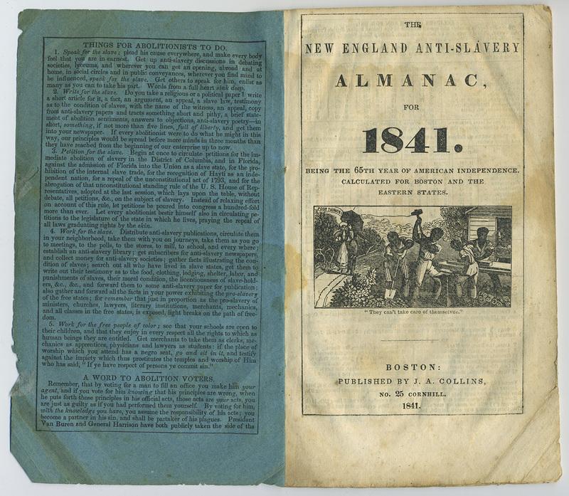 New England Anti-Slavery Almanac for 1841