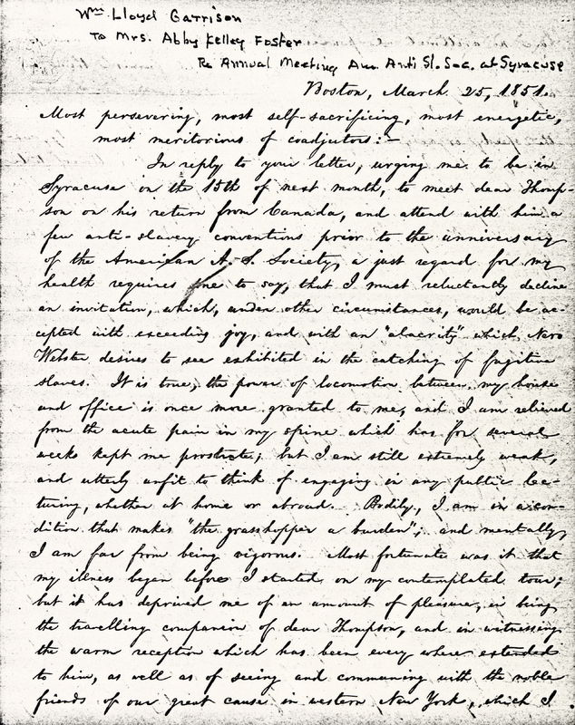Letter to Abby Kelley Foster