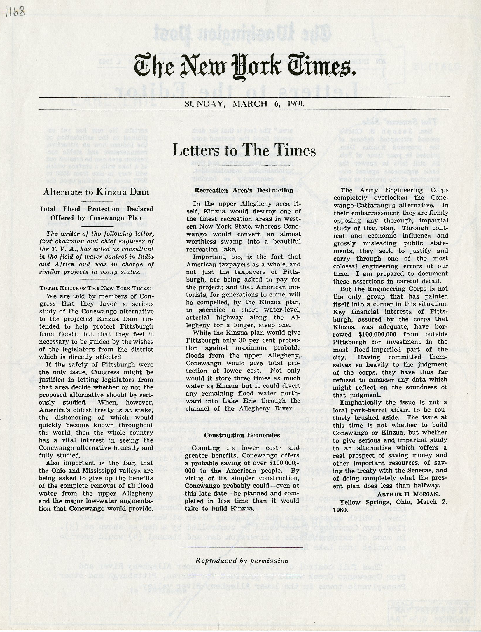 New York Times Letter to the Times, The Washington Post Letters to