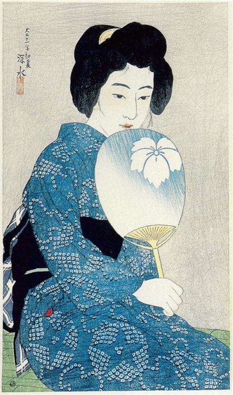 Cotton Kimono, from the series 'New Twelve Images of Beauties'