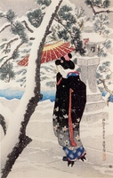 Snow at the Shrine, from 'The First Series of Modern Beauties'