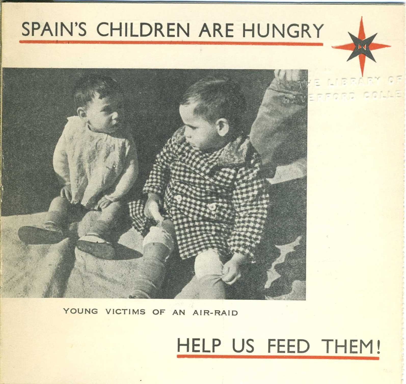 Spain's Children are Hungry. London: Friends Service Council, date unknown. This fundraising pamphlet includes a card to be returned with a donation.