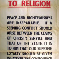 Recall to Religion - Peace and righteousness are inseparable.<br />