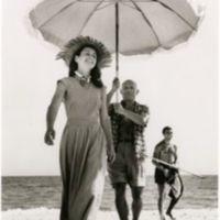 Robert Capa. Pablo Picasso and Françoise Gilot, Golfe-Juan, France