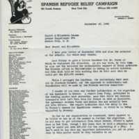 Letter from Herman Reissing to Elizabeth Jensen.