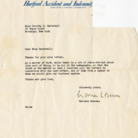 Letters to Dorothy Hartstall