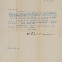 Letter to Ronald Lane Latimer